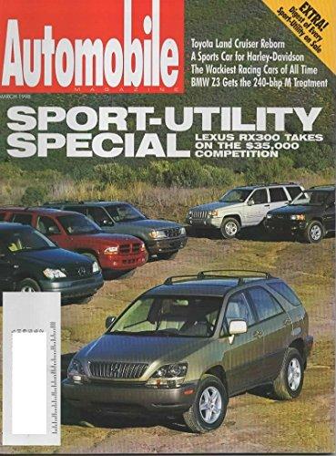 Automobile Magazine, March 1998 (Vol 12, No 12) (Bmw Z3 Specs)