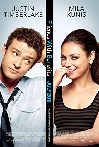 FRIENDS WITH BENEFITS Original Movie Poster 27x40 - DS - MILA KUNIS - JUSTIN - Kunis Mila With Friends
