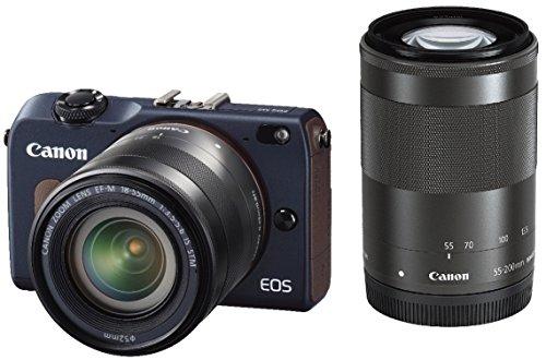 Canon ミラーレス一眼カメラ EOS M2 ダブルズームキット (ベイブルー) EF-M18-55mm F3.5-5.6 IS STM EF-M55-200mm F4.5-6.3 IS STM付属 EOSM2BL-WZOOMKIT