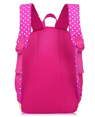Fletion Set Of 3 Bogen Kinder Rucksack Kindergartenrucksack Kinder Mädchen Wanderrucksack Backpack Schultasche Handtasche Kindergartentasche Rosa Rot