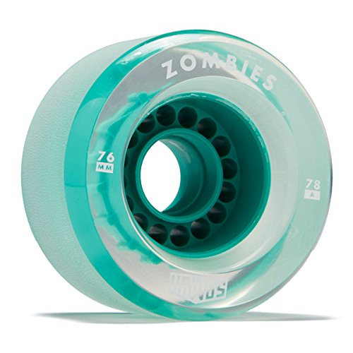 Hawgs Clear Zombie Longboard Wheels - 76mm - 78a - Teal (Hawg Wheels)