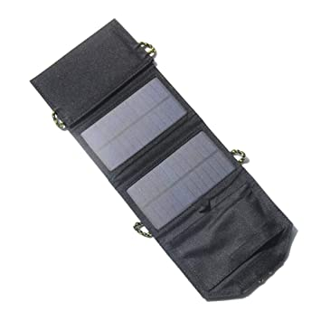 Four Cargador Solar, 8 Pulgadas USB Ventilador Solar + 7W ...
