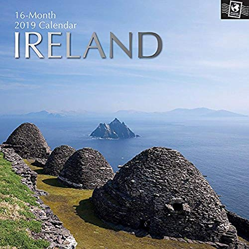 (2019 Wall Calendar - Ireland Calendar, 12 x 12 Inch Monthly View, 16-Month, Travel and Destination Theme, Includes 180 Reminder Stickers)