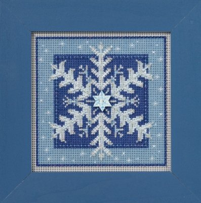 Crystal Snowflake Beaded Counted Cross Stitch Kit Mill Hill Buttons & Beads 2016 Winter Series -
