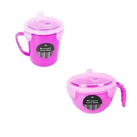 2 piezas para microondas taza de sopa y almuerzo juego de ...