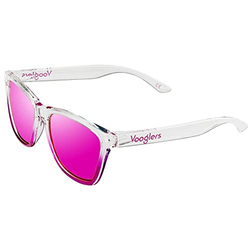 Vooglers -  Occhiali da sole  - Donna Rosa Transparente - Brillo