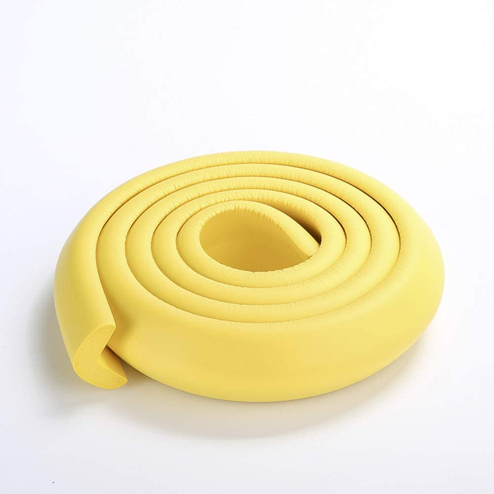 6.56 Ft Baby Safety Table Desk Edge Guard Strip Home Cushion Guard Strip Safe Protection Children Bar Strip Soft Thicken Bumper Yellow