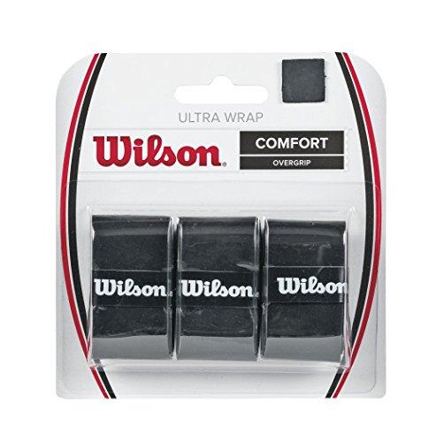 Wilson Ultra Wrap Tennis Overgrip (3-Pack), Black (Renewed)