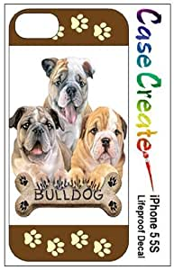 Bulldogs Decorative Sticker Decal for your iPhone 5 5S Lifeproof Case