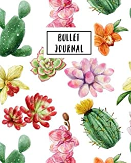 bullet journal cute little cactus 150 dot grid pages size 8x10 inches with bullet journal sample ideas