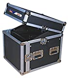 Amp and Mixer Case - Professional Portable Audio equipment - Removable Top Door - Recessed Latches With Padlocks - Shock Mount Rubber Feet - ATA 19U By GMI Pro