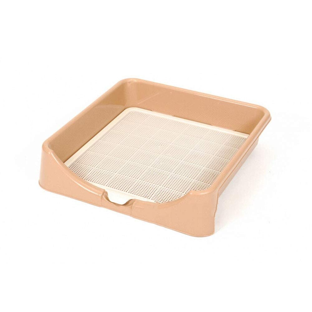 L Three-Sided Fenced Dog Toilet,Indoor with Separate Filter Buckle PP Resin Corrosion-Resistant Dog Potty Large, Medium and Small Dogs Female (Size   L)