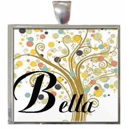 Bella Grandmother Tree of Life Glass Tile Pendant Necklace with Chain (Bella Glass Tiles)