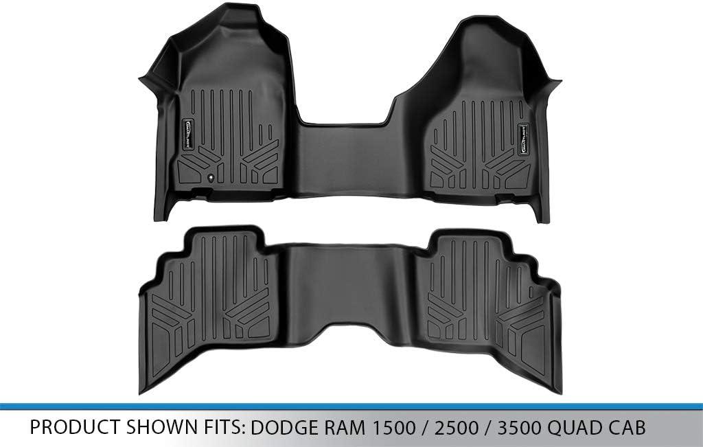 SMARTLINER Floor Mats 1st Row One Piece Liner Black for 2002-2008 Ram 1500//2003-2009 Ram 2500//3500 Standard or Quad Cab