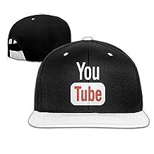 AAWODE Kid's Funny Youtube Adjustable Snapback Hip-hop Baseball Cap
