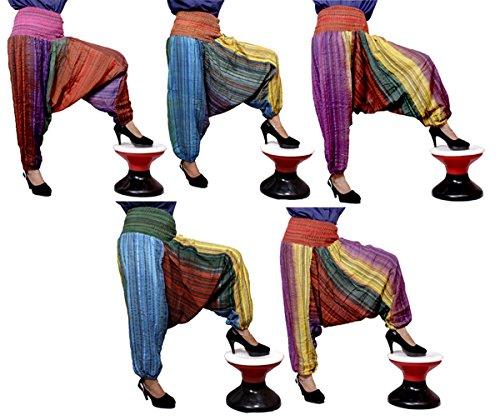 5Pcs-25pcs Casual Aladdin Boho Hippie Pants Trouser Wholesale Lot (Multi-25pcs) by Krishna Mart India
