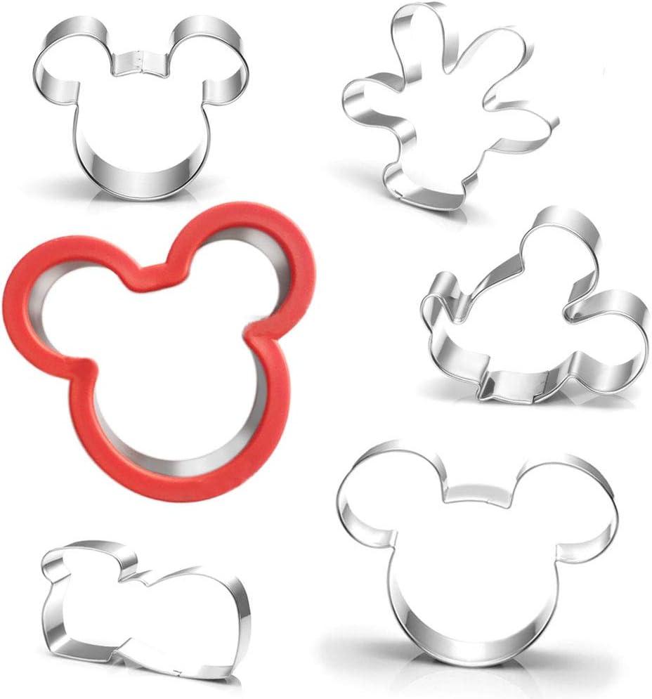 AAAAAA Lot de 6 emporte-pi/èces Mickey Mouse pour le visage et le pied la souris