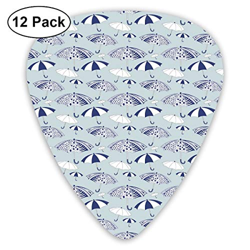 Guitar Picks - Abstract Art Colorful Designs,Artistic Canopies With Floral Geometrical And Abstract Patterns,Unique Guitar Gift,For Bass Electric & Acoustic Guitars-12 Pack
