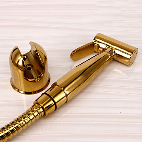 GFEI Titanium gold hand hold switch, multifunctional adjustable irrigator / toilet spray gun, shower nozzle / couple douche, shower spray gun, shower set GFEI shower head