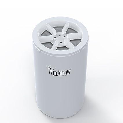 Filtro purificador de agua WinArrow reemplazable de 5 etapas para ducha, universal, de alto