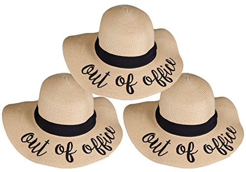 H-2017-BUNDLE-OOOx3 Embroidered Sun Hat 3 Pack - Out of Office -