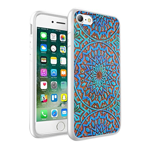 iPhone X Hülle, einzigartige Custom Design Prodective harte zurück dünner dünner Fit PC Bumper Case Kratzfeste Abdeckung für iPhone X - Mandala 0033