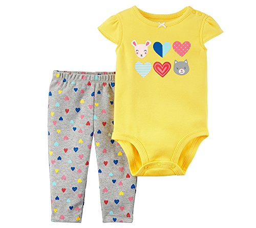 Carters Baby Girls 2 Piece Bodysuit And Pants Set 12 Months