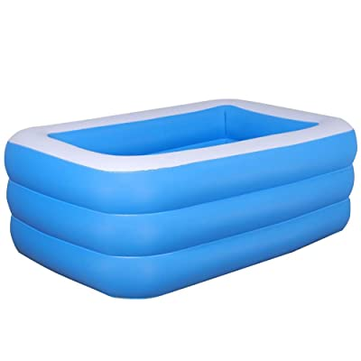 Inflatable Pool, Kiddie Pool, Family Inflatable Swimming Pool, Marine Ball Pool for Kids Adult Outdoor Garden Backyard Summer Water Party Multiple Size Options: Sports & Outdoors