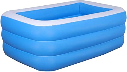 franktea Piscina Inflable, Piscina Rectangular Inflable, Piscina ...
