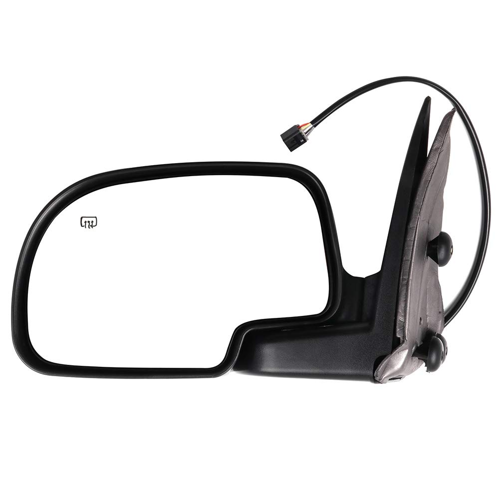 ECCPP Side Mirror Textured Driver Passenger Side Replacement 2000-02 Chevy Avalanche Suburban Tahoe GMC Yukon XL Power Heated Towing Mirror GM1320249 128-02973L 15179836