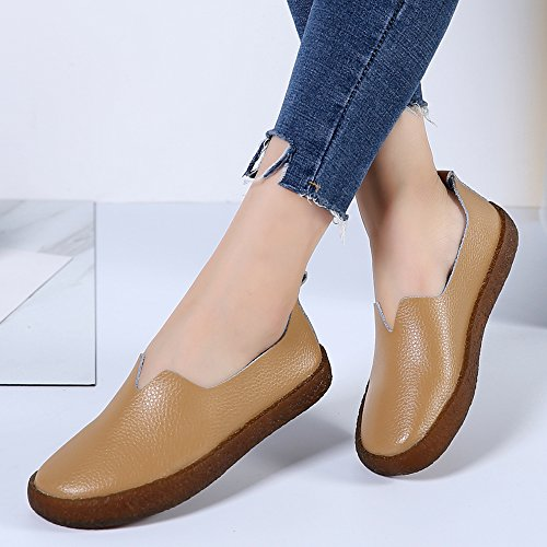Leather Cow Slip Women's YZHYXS Fashion Shoes Comfort Moccasins Sneakers Loafers On Tan qpBTZn