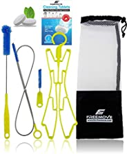 Hydration Water Bladder Cleaning Kit 5in1, No More Dirt, Universal for Hydration Bag Reservoir, Bladder Cleane