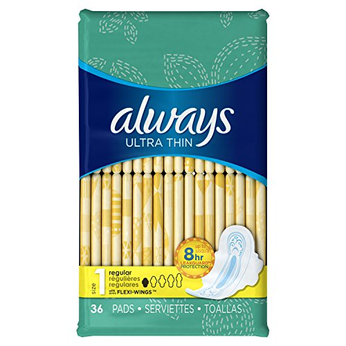 always-ultra-thin-size-1-pads-with-wings-regular-absorbency-unscented-36-count-packaging-may-vary
