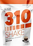 Mocha Meal Replacement | 310 Shake Protein Powder is Gluten and Dairy free, Soy Protein and Sugar Free | Includes Free Recipe eBook | 28 Servings