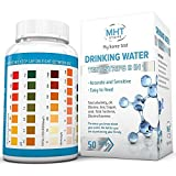 Drinking water test strips 9 in 1 by MHT - Drinking Water, Ponds, Aquariums, Test in Seconds for Total Chlorine, Alkalinity & pH, Metals