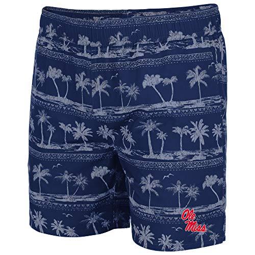 Colosseum Mens Ole Miss Rebels Maui Swim Shorts - M