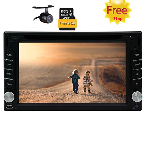 Double Din Car Stereo Autoradio 6.2 inch Touch Screen GPS Navigation Audio Bluetooth CD DVD Player MP3 SD USB Subwoofer Radio FM AM Steering Wheel Control Rearview Camera