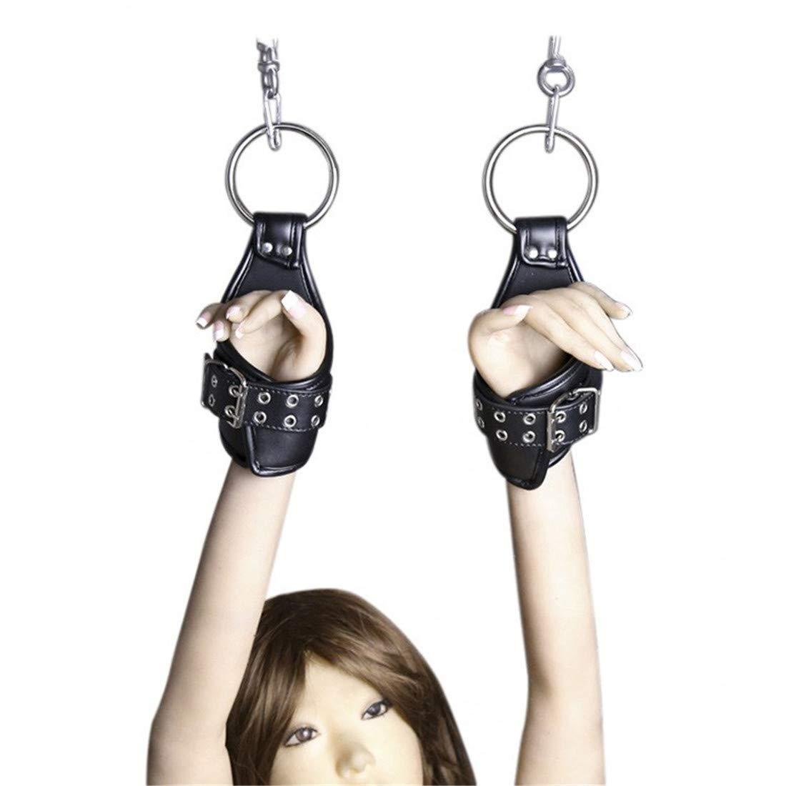 KERVINZHANG Encuadernación sexy anillo de hierro puerta colgante esposas esposas esposas accesorios exóticos juguetes sexuales 1494e8