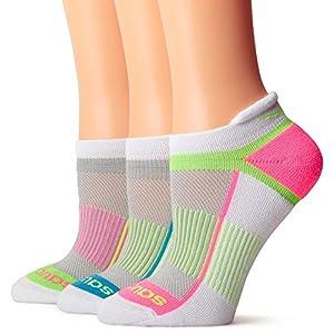 Saucony Women's Inferno Tab Socks, White Fashion , Medium/Shoe Size 7-10 (Pack of 3)