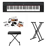 Yamaha NP-32 76-Key Mid-Level Piaggero Portable Digital Piano Bundle with Knox Double X Stand Knox Keyboard Bench and Survival Kit (Includes Power Supply and 2 Year Extended Warranty)