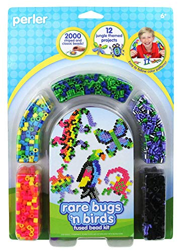 Perler Beads Rare Bugs and Birds Jungle Animal Craft Activity Kit, 2005 pcs