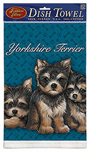 Kitchen Towel--Dog Design--Yorkie-Yorkshire Terrier Puppies--Printed in the USA--22'' by 32''