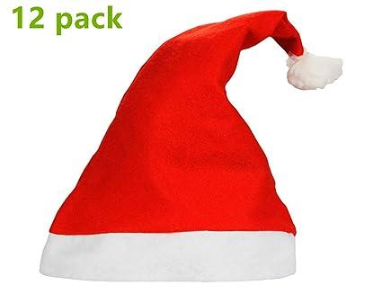 7445e5fa5a2796 Amazon.com: Yansanido 1 Dozen(12pack) 15'' Adult Santa Hat ...