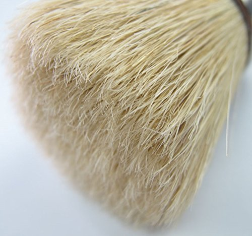 New Wax Brush For Chalk Paint, Round Brush For Furniture, 2-in-1 Paint And Wax Clear And Dark. Boiled Natural Bristles and Free Thread