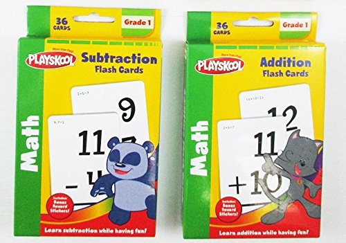 Playskool Addition & Subtraction Flash Cards Set of 2 (Add And Subtract Flash Cards)
