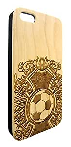 Genuine Maple Wood Organic Soccer Ball Football Snap-On Cover Hard Case for iPhone 6