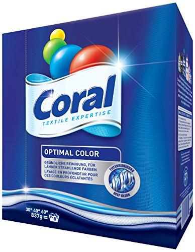 Coral Feinwaschmittel Optimal Color Waschpulver, 4er Pack 18 WL (4 x 18 WL)