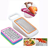 Cisixin Vegetables Slicer, Grater Set Best For Carrots, Cheese, Cucumber, Onion, Tomato and Zucchini - Grater, Shredder, Julienne & Zester- 4 Piece