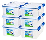 Ziploc WeatherShield 16 Quart Storage Box, 6 Pack, Clear