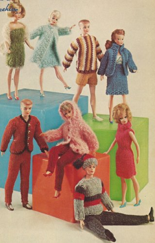 Vintage Knitting PATTERN to make - Fashion Doll Clothes Boy Girl Wardrobe Everything. NOT a finished item. This is a pattern and/or instructions to make the item only. -